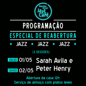 12h00 • Sarah Avila & Peter Henry • BS Jazz Cafe