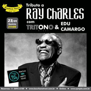 21h00 • Tritono Blues + Edu Camargo • Ray Charles