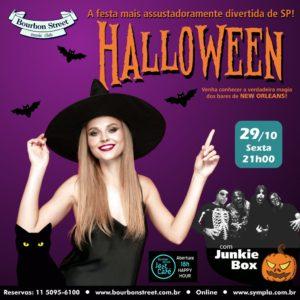21h00 • Festa de Halloween • Junkie Box